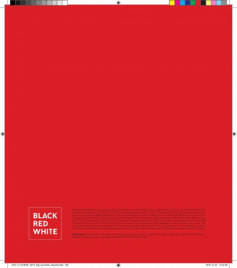 BLACK RED WHITE katalog 2017
